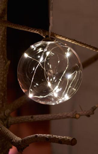 LED Weihnachtsbaumanhänger Pure Ball